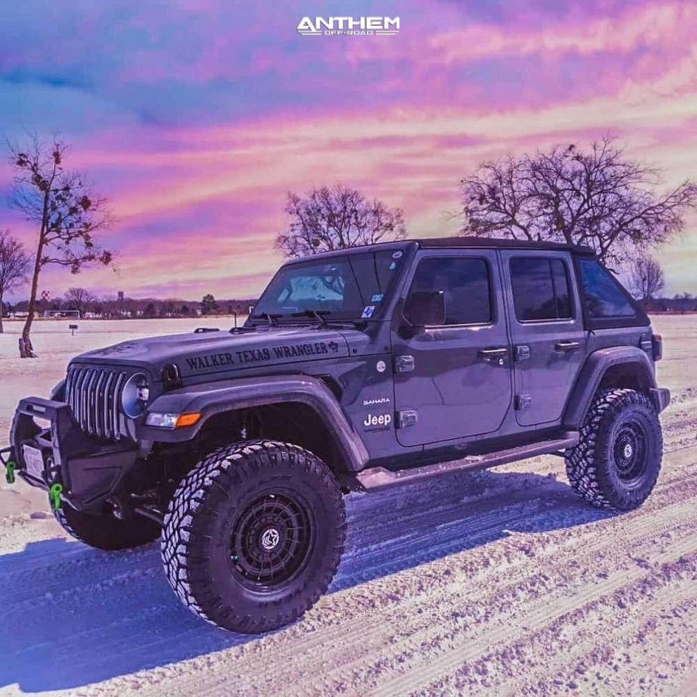 13 2018 Wrangler Jeep Unlimited Sahara Teraflex Suspension Lift 25in Anthem Off Road Viper Matte Black