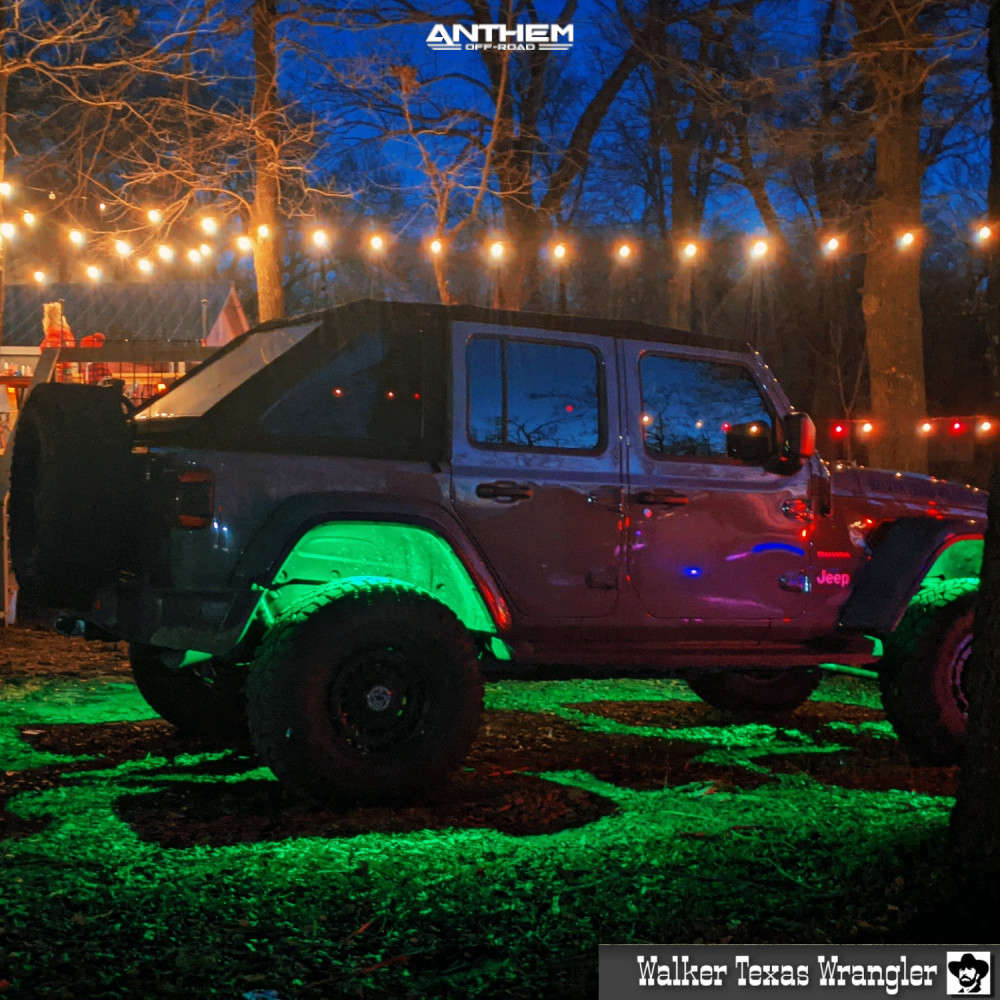 7 2018 Wrangler Jeep Unlimited Sahara Teraflex Suspension Lift 25in Anthem Off Road Viper Matte Black