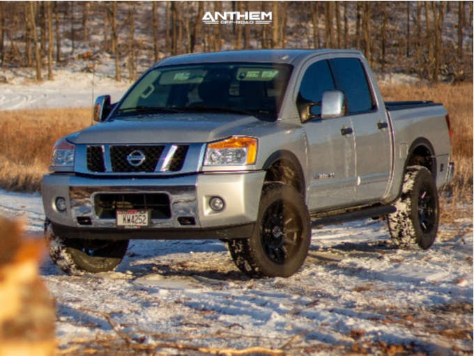 2 2015 Titan Nissan Superlift Suspension Lift 3in Anthem Off Road Liberty Matte Black