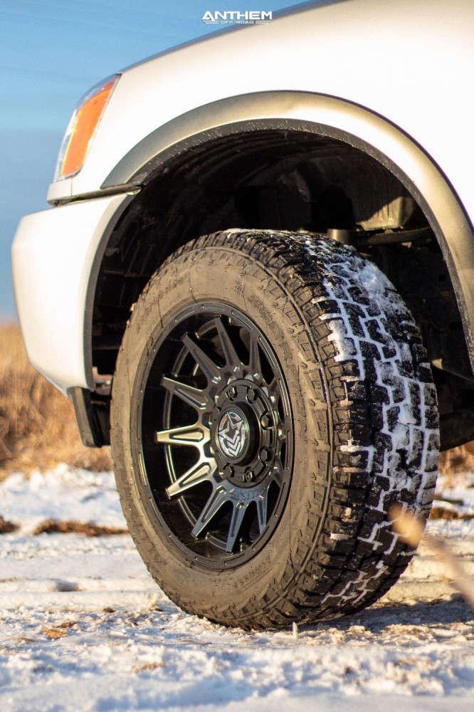 8 2015 Titan Nissan Superlift Suspension Lift 3in Anthem Off Road Liberty Matte Black