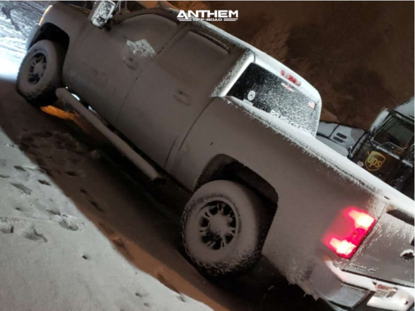 4 2010 Silverado 1500 Chevrolet Rough Country Suspension Lift 25in Anthem Off Road Aviator Black