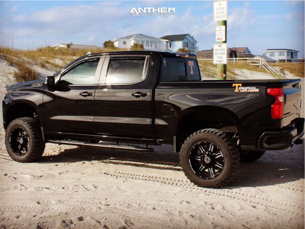 4 2020 Silverado 1500 Chevrolet Rough Country Suspension Lift 4in Anthem Off Road Equalizer Machined Black