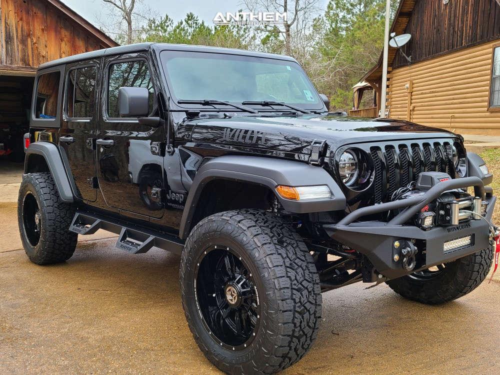 1 2021 Wrangler Jeep Unlimited Sport Mopar Suspension Lift 25in Anthem Off Road Equalizer Black