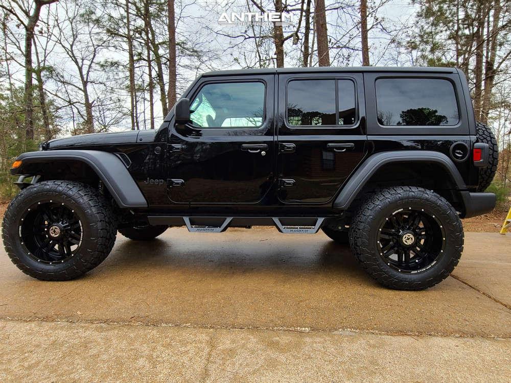 12 2021 Wrangler Jeep Unlimited Sport Mopar Suspension Lift 25in Anthem Off Road Equalizer Black
