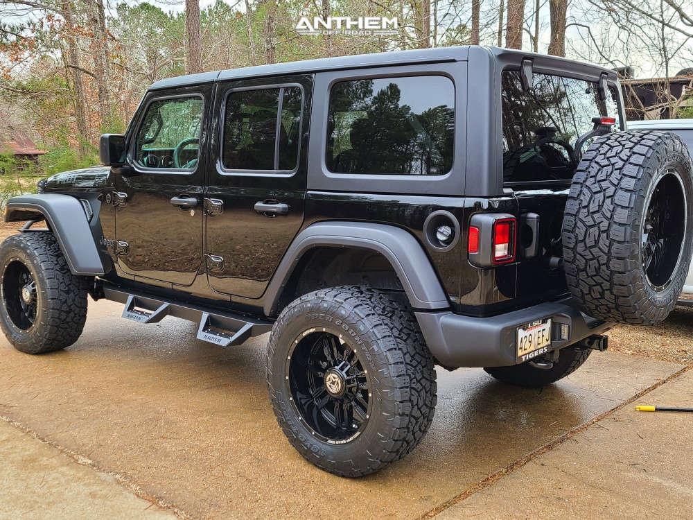 4 2021 Wrangler Jeep Unlimited Sport Mopar Suspension Lift 25in Anthem Off Road Equalizer Black