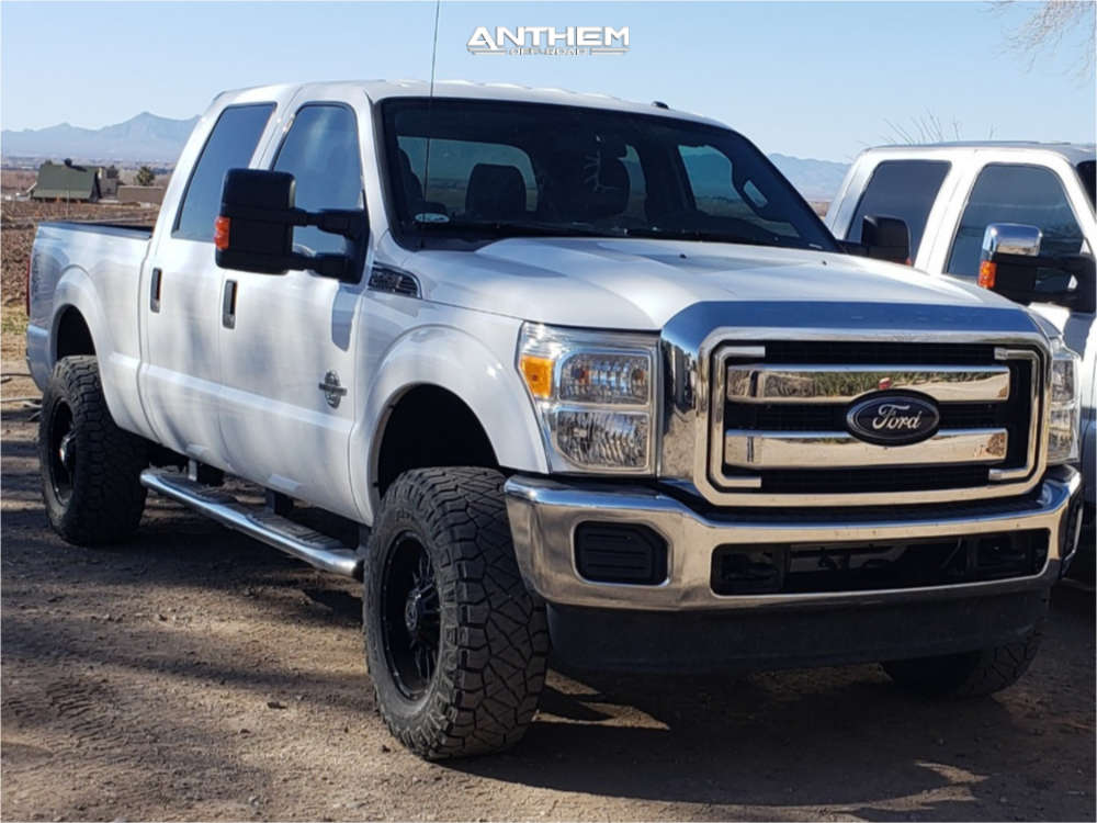 1 2015 F 250 Super Duty Ford 2 Inch Level Stock Anthem Off Road Equalizer Machined Black