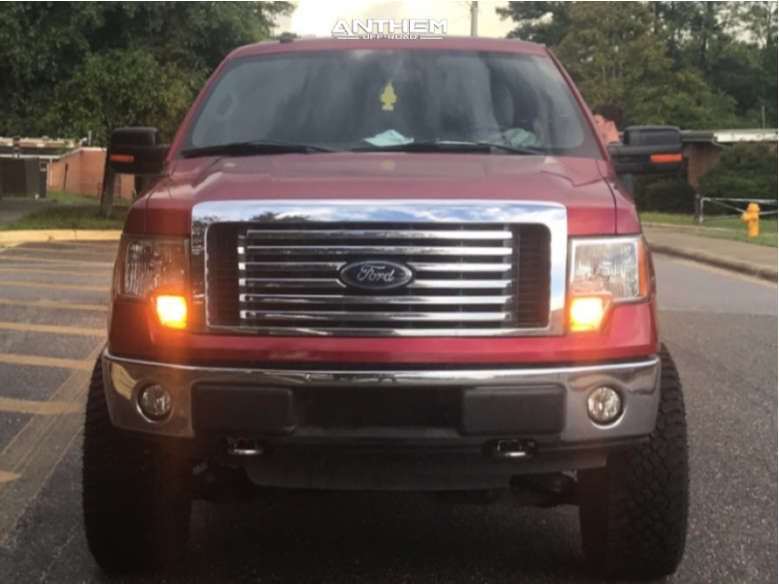 2 2010 F 150 Ford Rough Country Suspension Lift 6in Anthem Off Road Equalizer Machined Accents