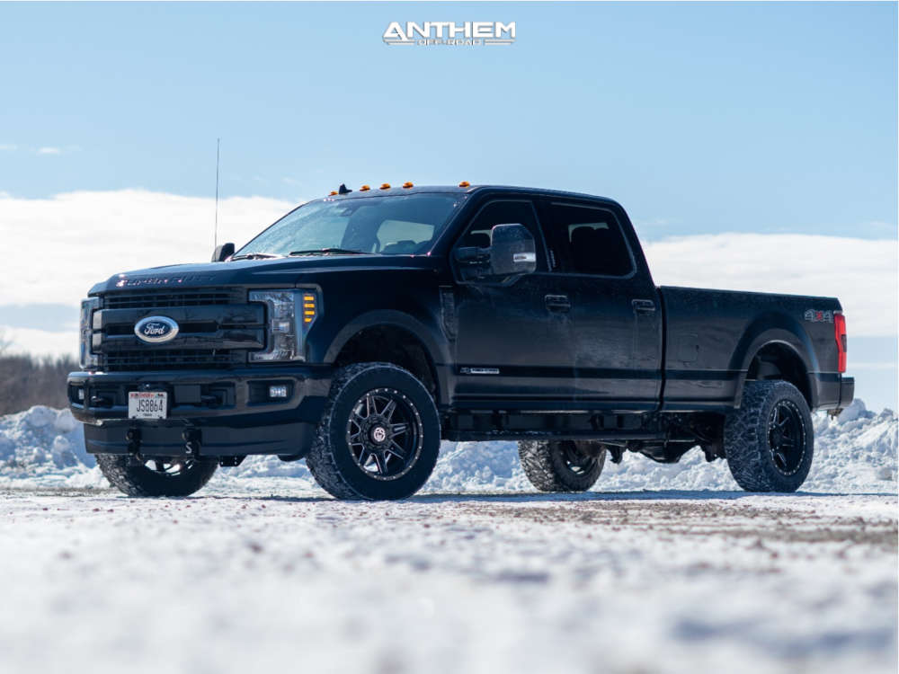 2 2020 F 350 Super Duty Ford Stock Air Suspension Anthem Off Road Rogue Machined Black