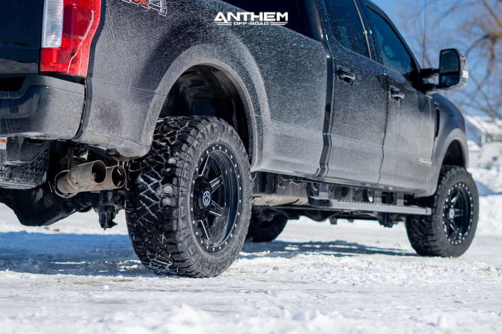 4 2020 F 350 Super Duty Ford Stock Air Suspension Anthem Off Road Rogue Machined Black