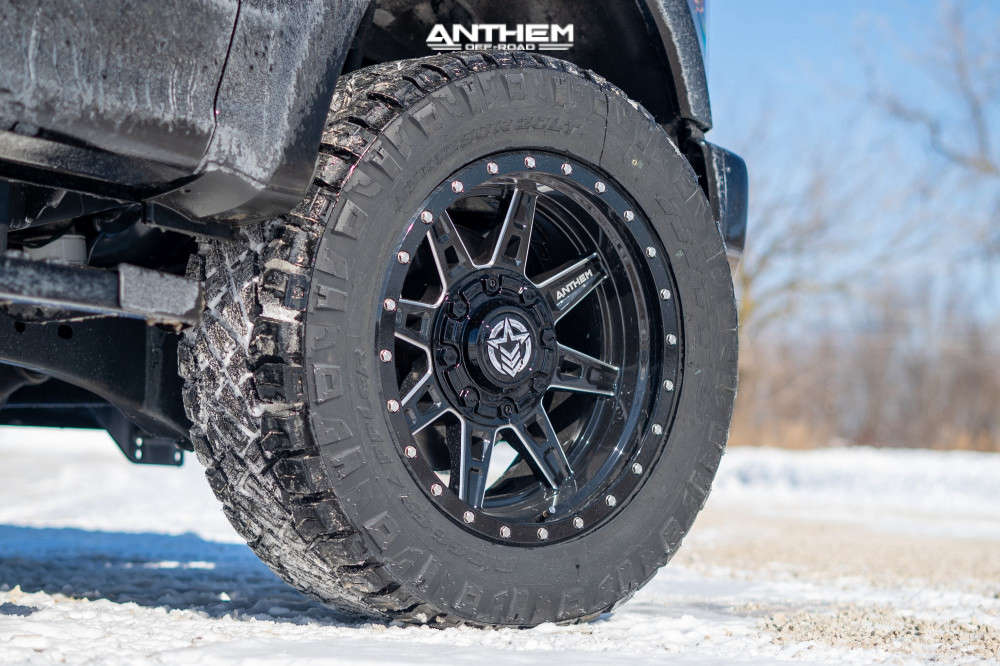 5 2020 F 350 Super Duty Ford Stock Air Suspension Anthem Off Road Rogue Machined Black