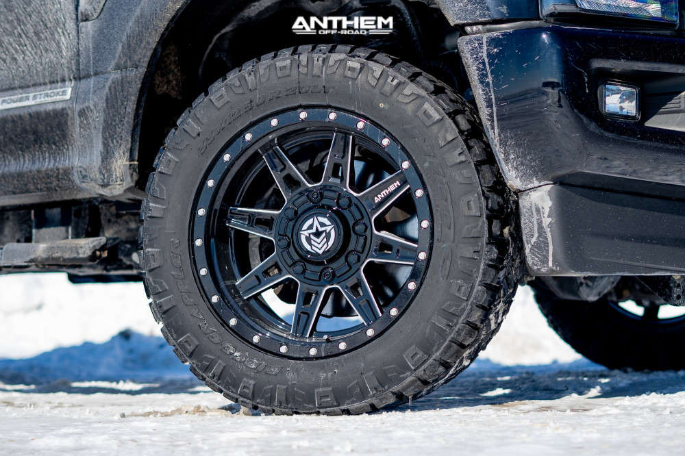 8 2020 F 350 Super Duty Ford Stock Air Suspension Anthem Off Road Rogue Machined Black