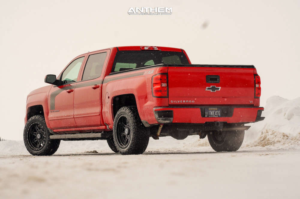 13 2016 Silverado 1500 Chevrolet Rough Country Leveling Kit Anthem Off Road Rogue Machined Black