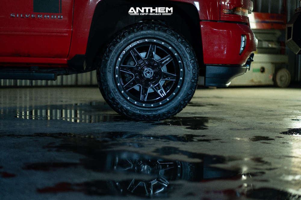 8 2016 Silverado 1500 Chevrolet Rough Country Leveling Kit Anthem Off Road Rogue Machined Black