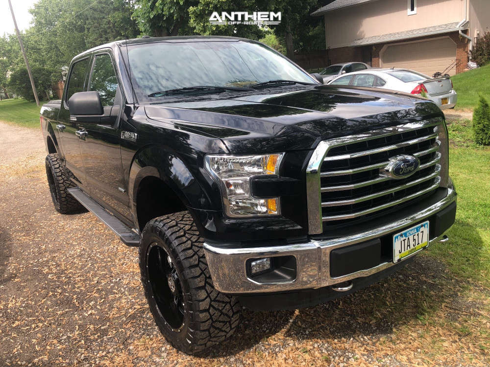 1 2016 F 150 Ford Rough Country Suspension Lift 3in Anthem Off Road Equalizer Black