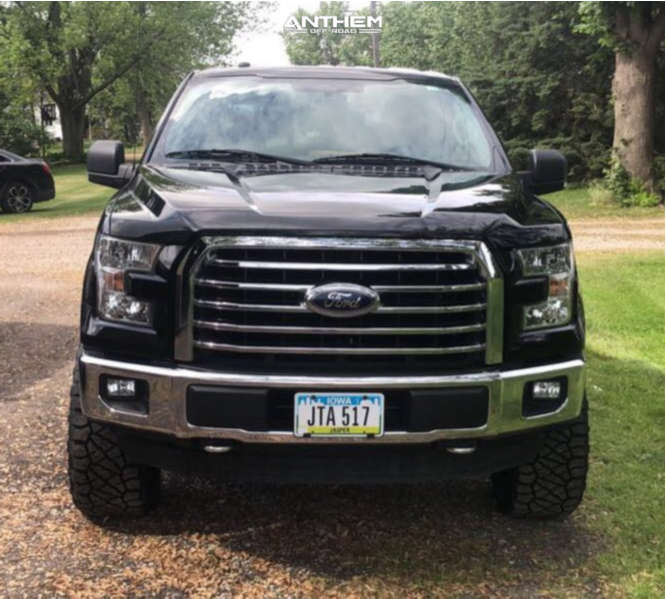 2 2016 F 150 Ford Rough Country Suspension Lift 3in Anthem Off Road Equalizer Black