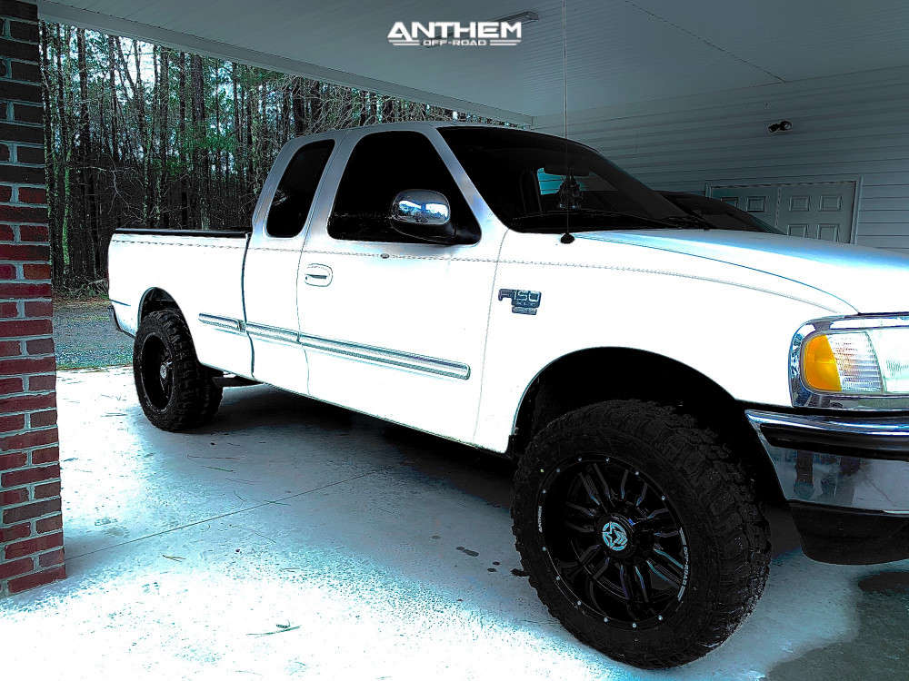 12 1997 F 150 Ford Rough Country Suspension Lift 3in Anthem Off Road Equalizer Black