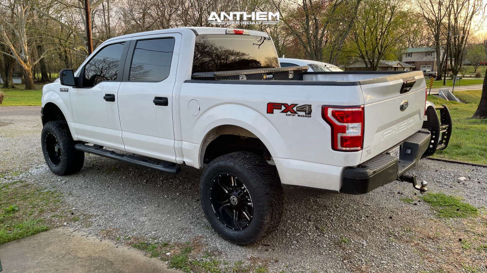 4 2019 F 150 Ford Rough Country Suspension Lift 6in Anthem Off Road Equalizer Machined Accents