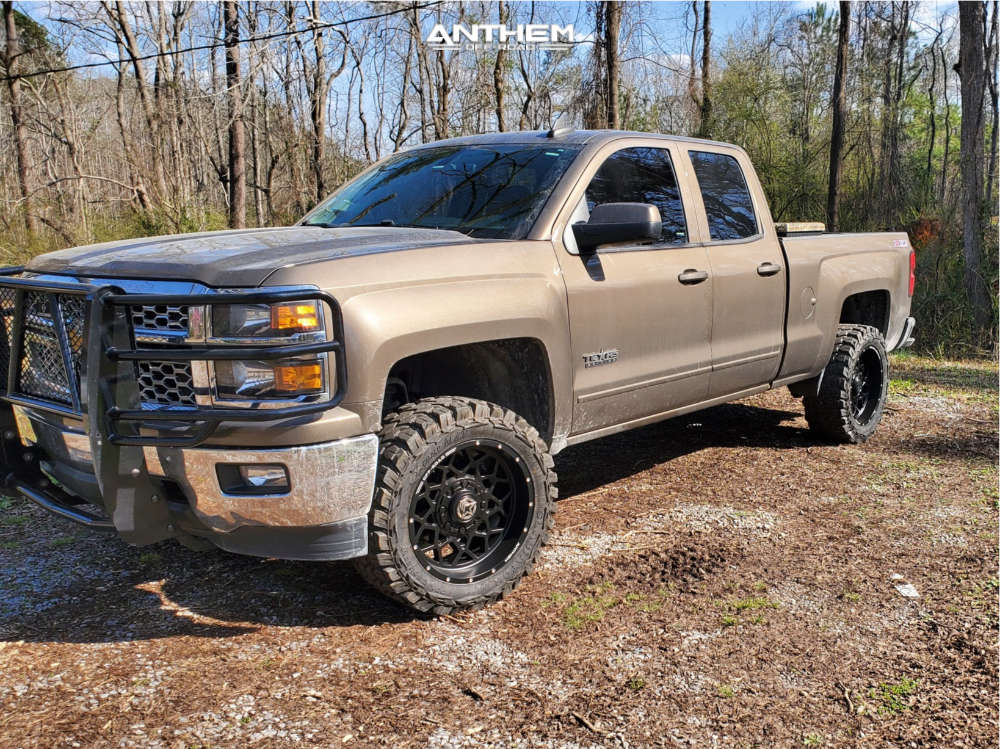 1 2015 Silverado 1500 Chevrolet Rough Country Suspension Lift 35in Anthem Off Road Avenger Black