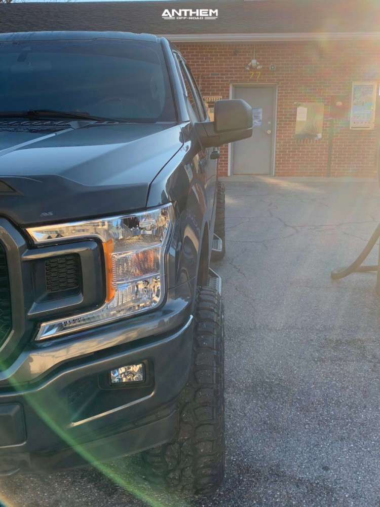2 2019 F 150 Ford Rough Country Suspension Lift 6in Anthem Off Road Avenger Machined Black
