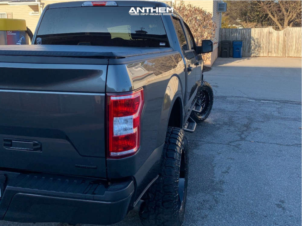 3 2019 F 150 Ford Rough Country Suspension Lift 6in Anthem Off Road Avenger Machined Black