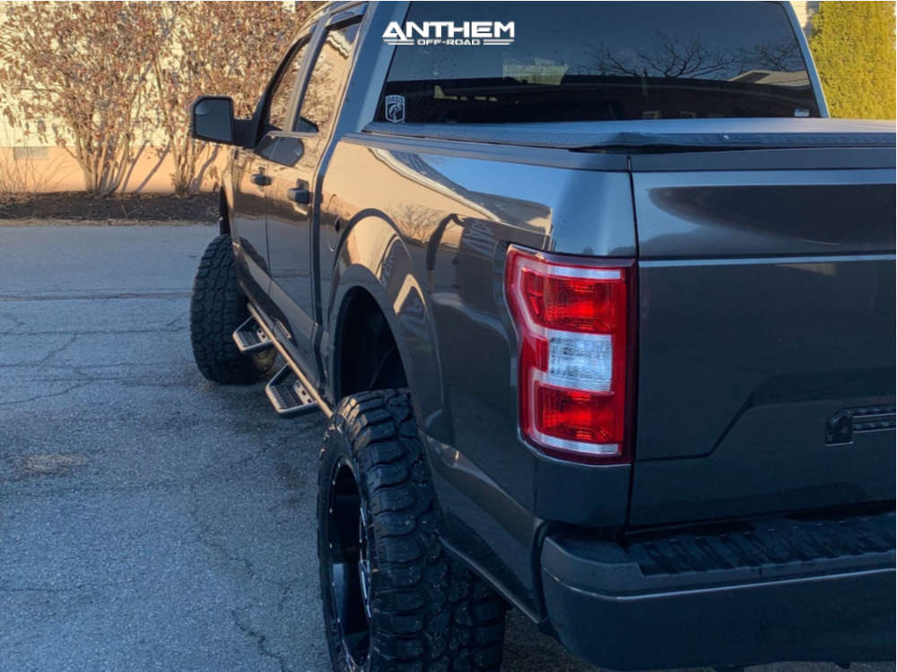 4 2019 F 150 Ford Rough Country Suspension Lift 6in Anthem Off Road Avenger Machined Black