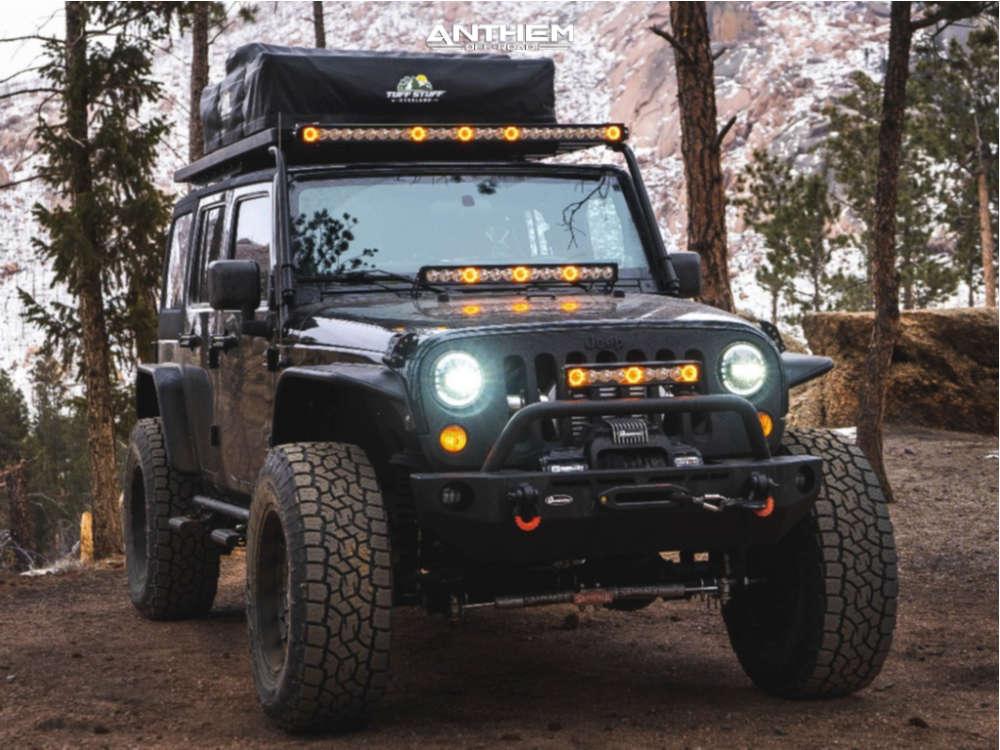 1 2009 Wrangler Jk Jeep Base Skyjacker Suspension Lift 4in Anthem Off Road Viper Matte Black