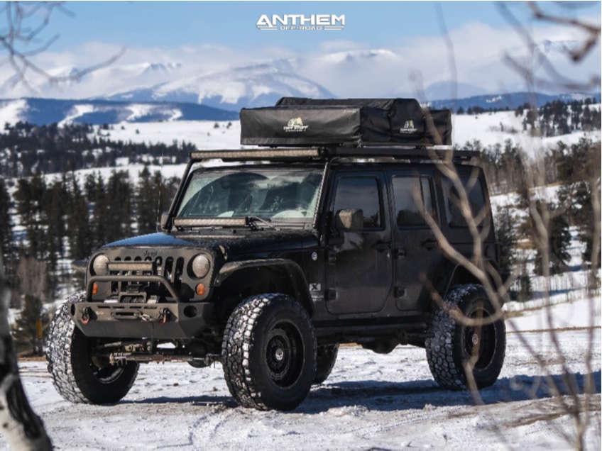 12 2009 Wrangler Jk Jeep Base Skyjacker Suspension Lift 4in Anthem Off Road Viper Matte Black