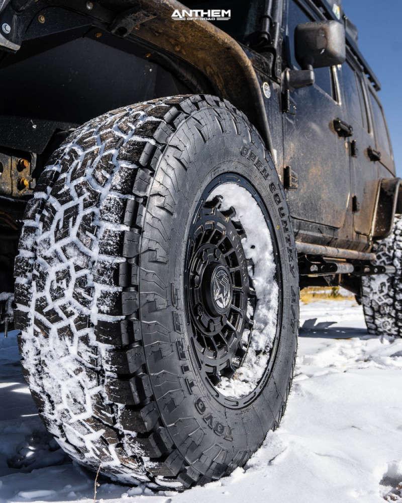 16 2009 Wrangler Jk Jeep Base Skyjacker Suspension Lift 4in Anthem Off Road Viper Matte Black