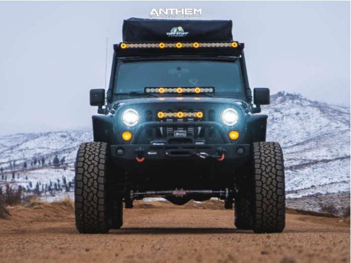 2 2009 Wrangler Jk Jeep Base Skyjacker Suspension Lift 4in Anthem Off Road Viper Matte Black