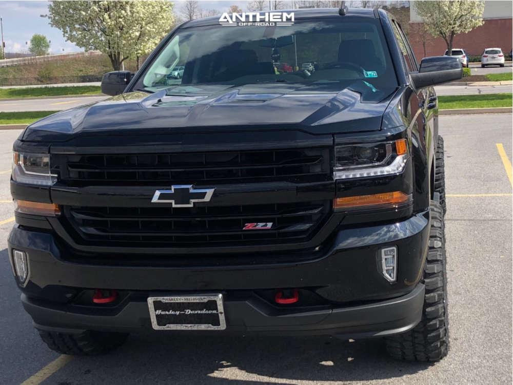 2 2017 Silverado 1500 Chevrolet Fabtech Leveling Kit Anthem Off Road Rogue Black