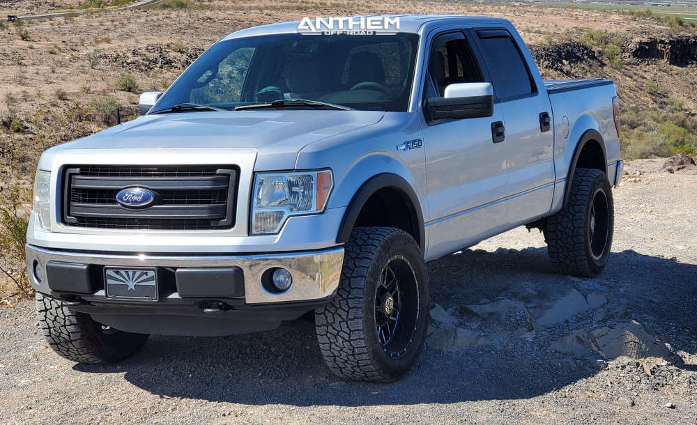 12 2013 F 150 Ford Supreme Suspension Lift 25in Anthem Off Road Gunner Machined Black