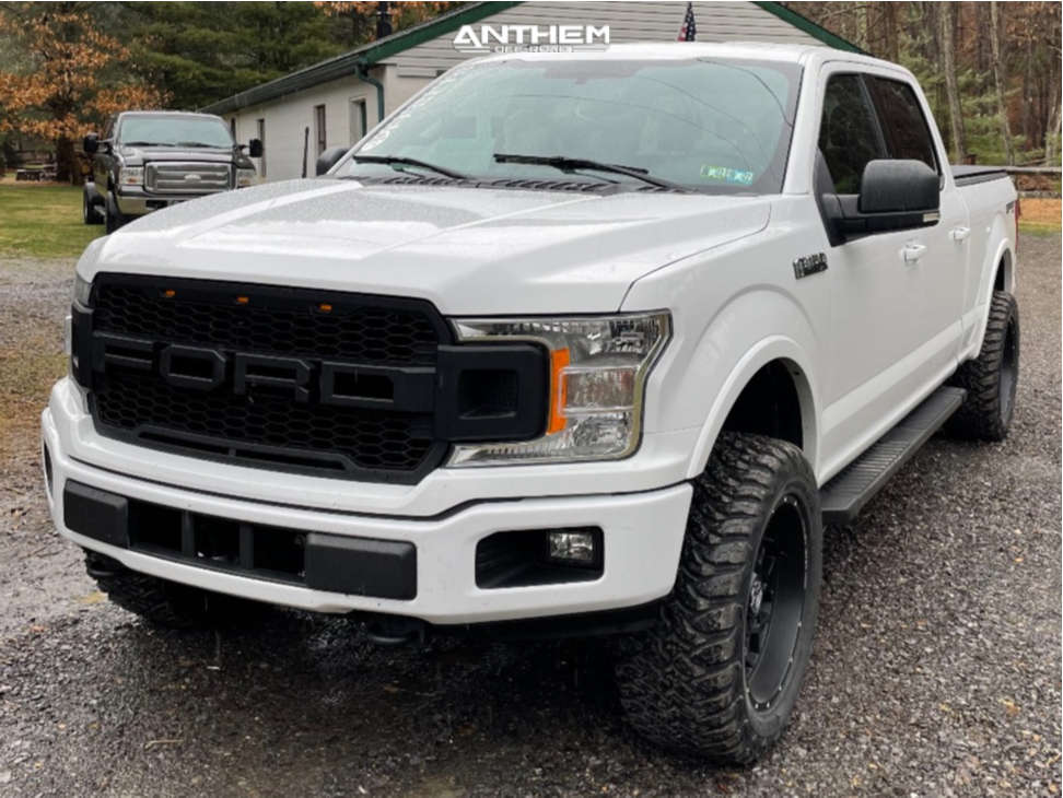 1 2018 F 150 Ford Rough Country Suspension Lift 3in Anthem Off Road Avenger Black