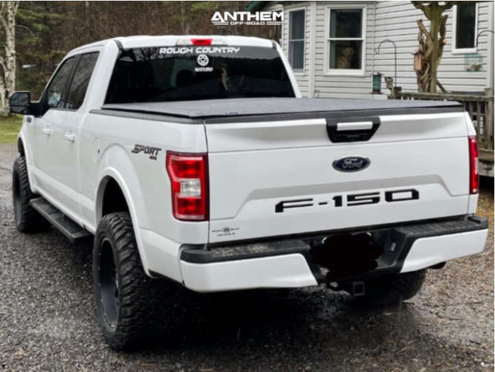 4 2018 F 150 Ford Rough Country Suspension Lift 3in Anthem Off Road Avenger Black