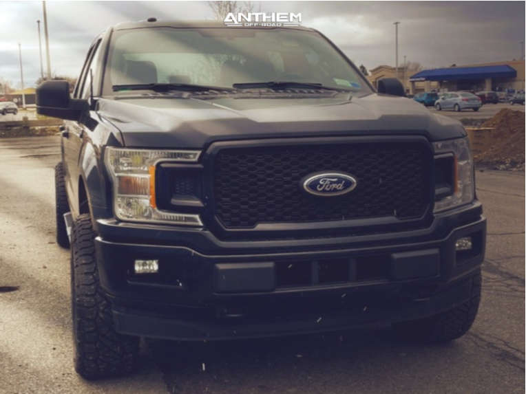 2 2018 F 150 Ford 2 Inch Level Stock Anthem Off Road Avenger Black