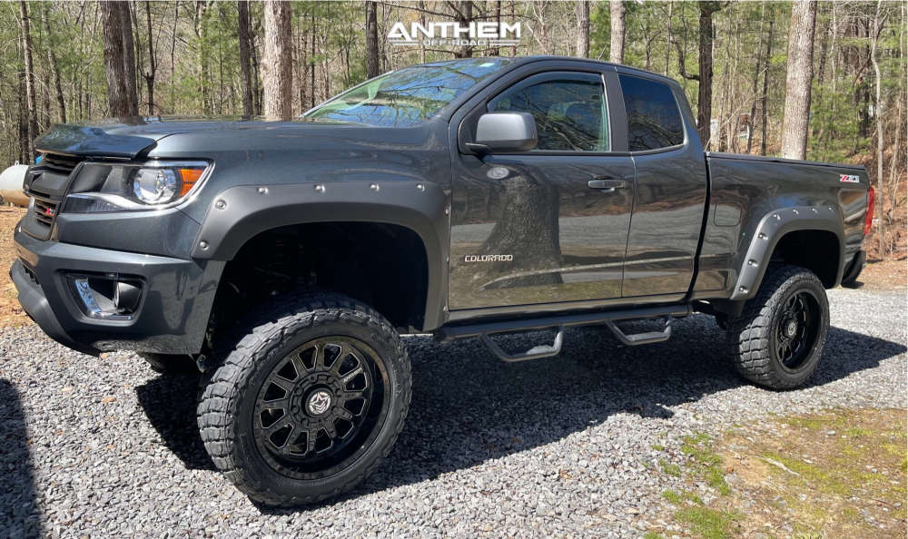 1 2017 Colorado Chevrolet Rough Country Suspension Lift 6in Anthem Off Road Intimidator Black