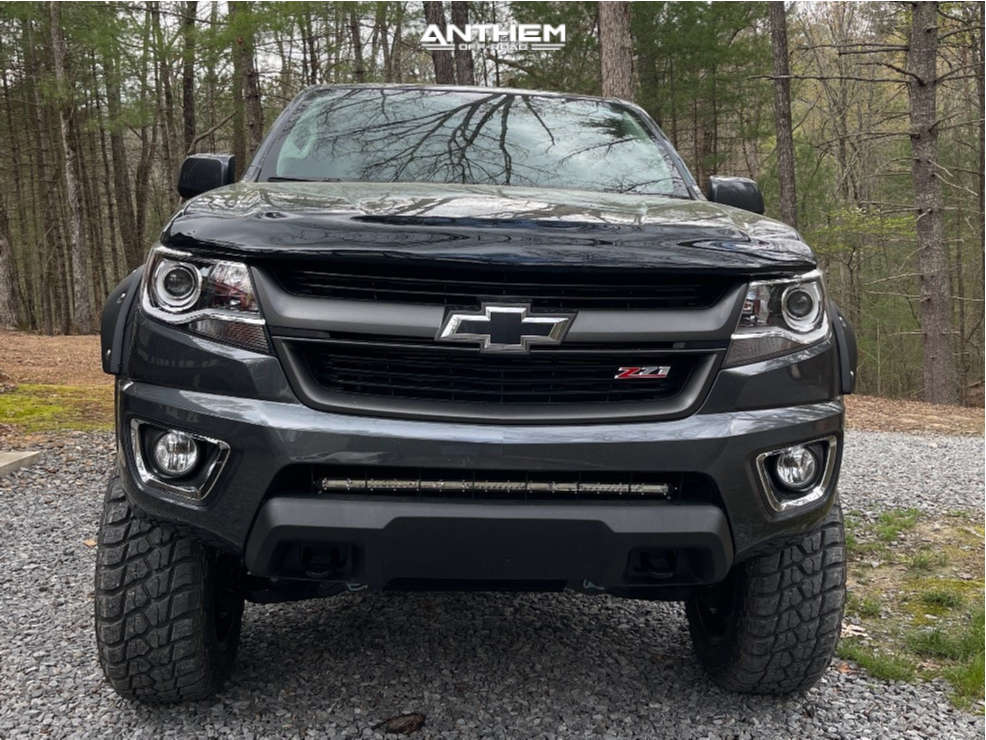 2 2017 Colorado Chevrolet Rough Country Suspension Lift 6in Anthem Off Road Intimidator Black
