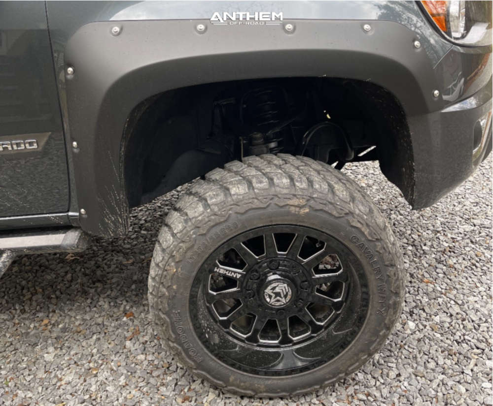 6 2017 Colorado Chevrolet Rough Country Suspension Lift 6in Anthem Off Road Intimidator Black