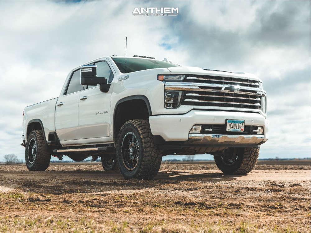 1 2021 Silverado 3500 Hd Chevrolet Kryptonite Leveling Kit Anthem Off Road Rogue Black
