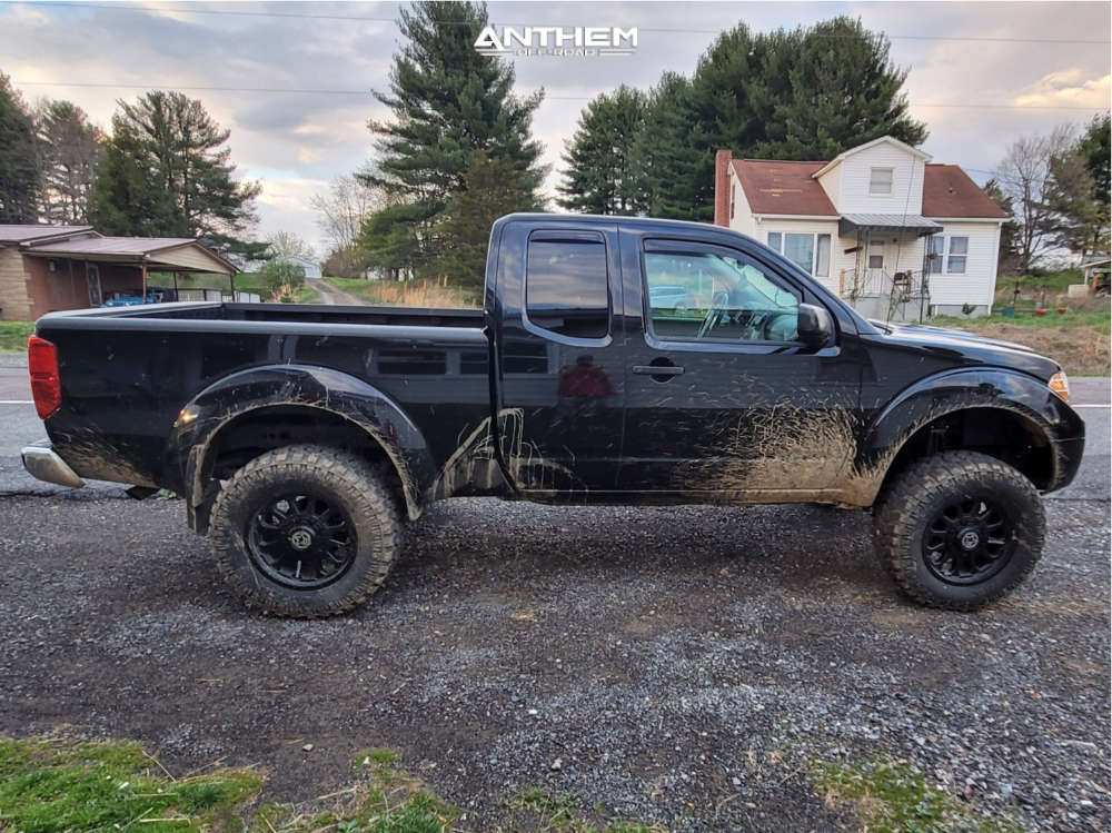 5 2019 Frontier Nissan Rough Country Suspension Lift 6in Anthem Off Road Intimidator Black