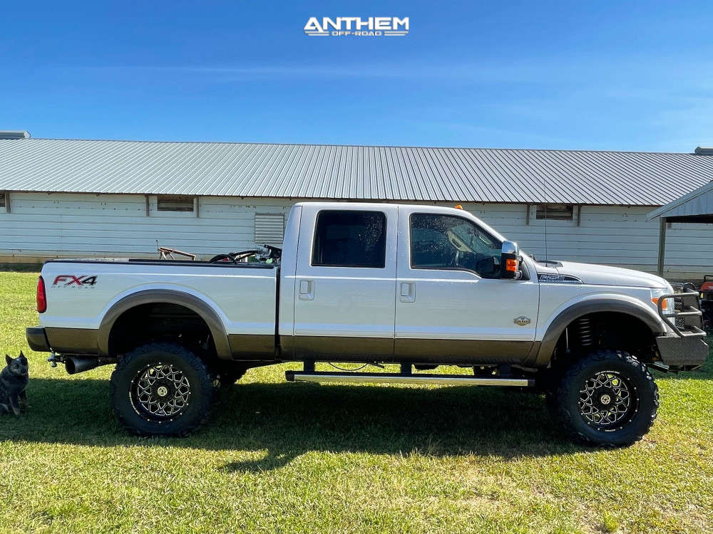 1 2015 F 250 Super Duty Ford Rough Country Suspension Lift 6in Anthem Off Road Avenger Black