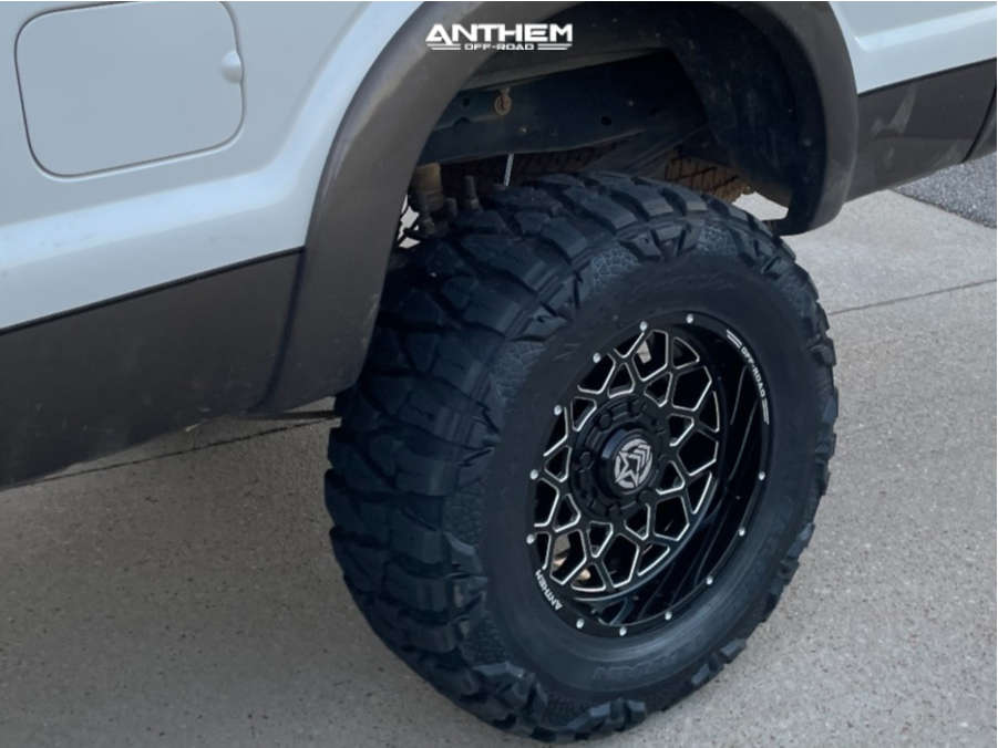 5 2015 F 250 Super Duty Ford Rough Country Suspension Lift 6in Anthem Off Road Avenger Black