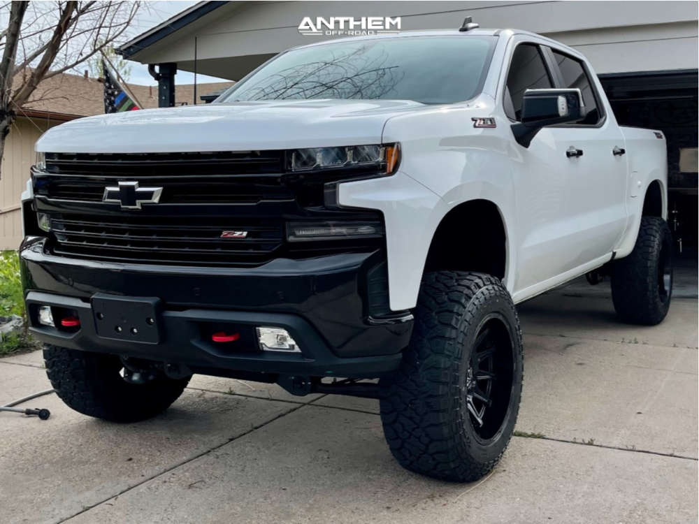 1 2021 Silverado 1500 Chevrolet Rough Country Suspension Lift 6in Anthem Off Road Liberty Black