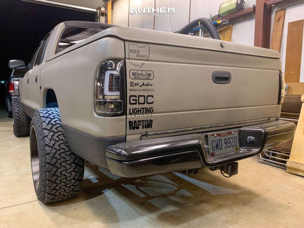3 2002 Dakota Dodge Supreme Suspension Lift 3in Anthem Off Road Liberty Black