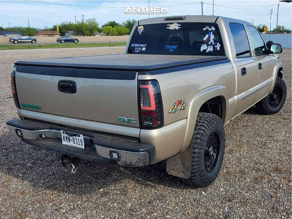 4 2006 Sierra 1500 Gmc Rough Country Leveling Kit Anthem Off Road Viper Black