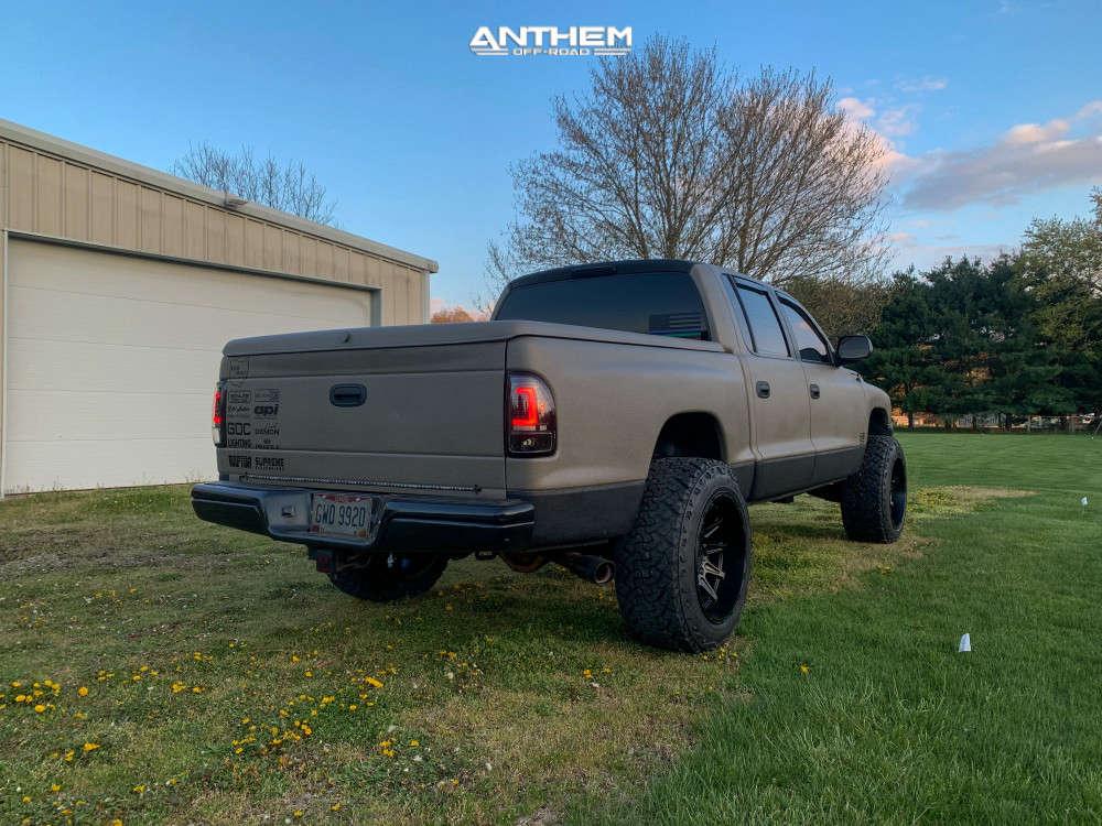 4 2002 Dakota Dodge Supreme Suspension Lift 3in Anthem Off Road Liberty Black