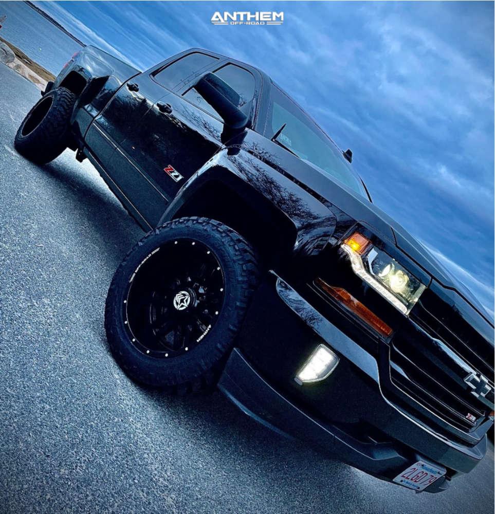 1 2018 Silverado 1500 Chevrolet 2 Inch Level Leveling Kit Anthem Off Road Equalizer Black