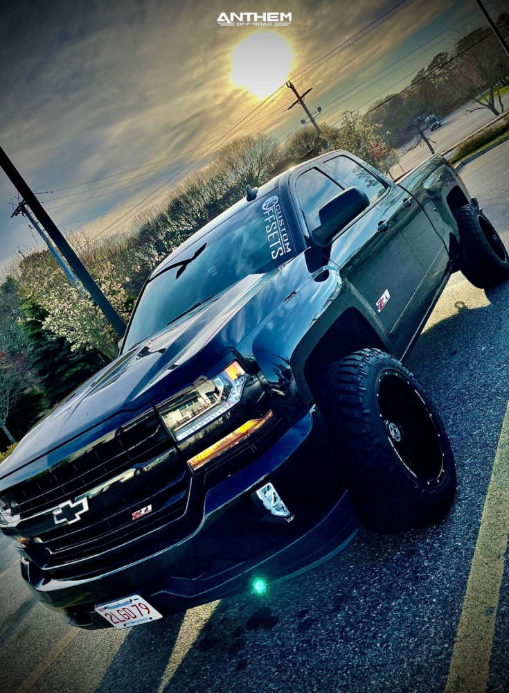 2 2018 Silverado 1500 Chevrolet 2 Inch Level Leveling Kit Anthem Off Road Equalizer Black