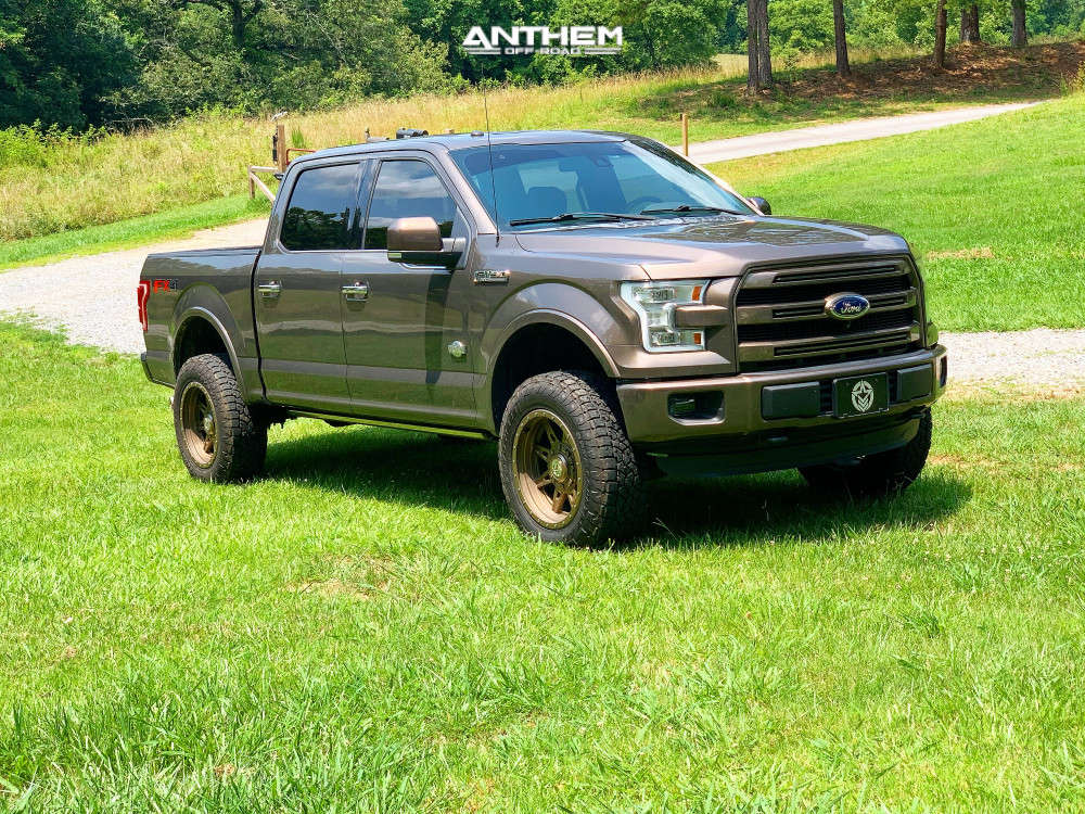 1 2016 F 150 Ford Readylift Suspension Lift 35in Anthem Off Road Rogue Bronze