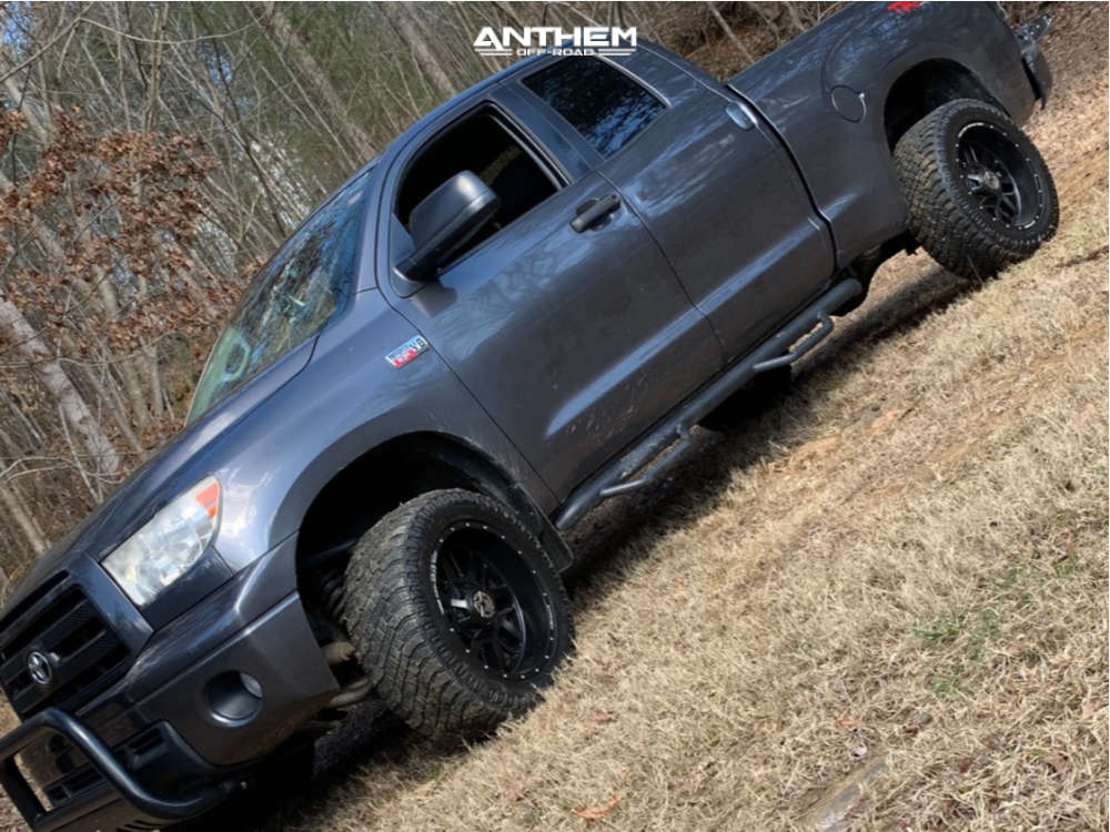 1 2012 Tundra Toyota Rough Country Leveling Kit Anthem Off Road Equalizer Black