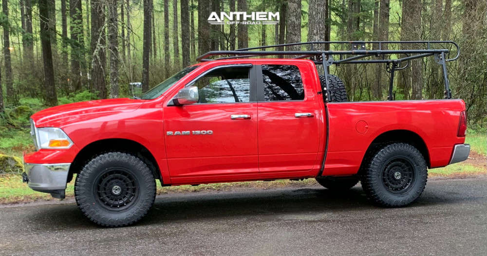 1 2011 1500 Ram Rough Country Suspension Lift 25in Anthem Off Road Viper Black